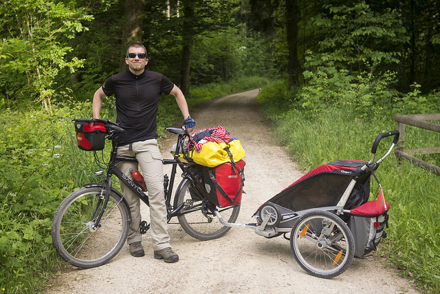 Andrew's bike touring setup
