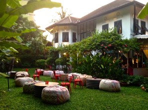The garden at Issaya Siamese Club