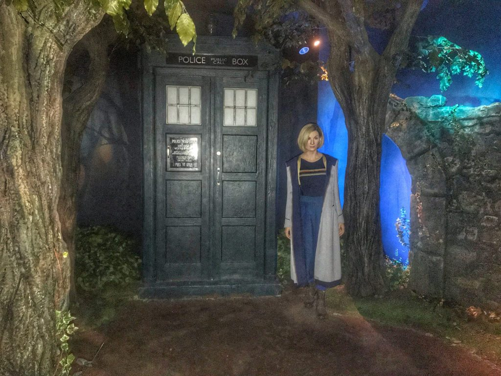 Doctor who zone with wax figure of Jodie Whittaker at Madame Tussauds Blackpool