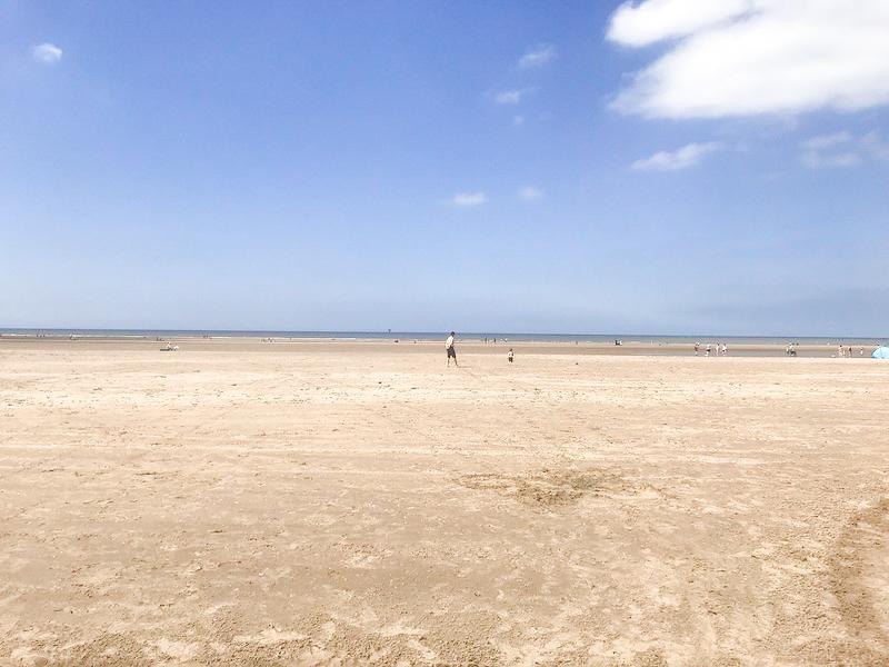 Plenty of space on Ainsdale beach