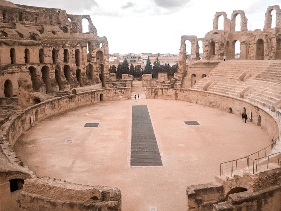 View of the arena at El Djem's amphitheatre