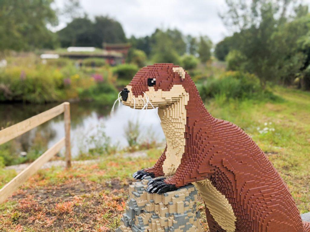 Lego otter at Martin mere Wetlands Centre
