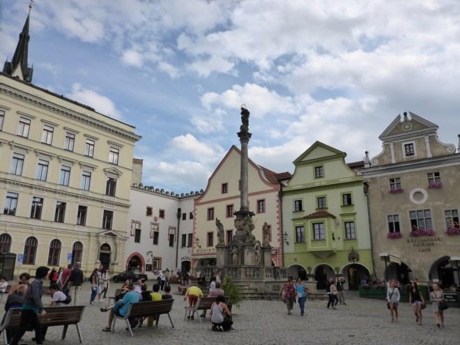 Square in Cesky Krumlov old town
