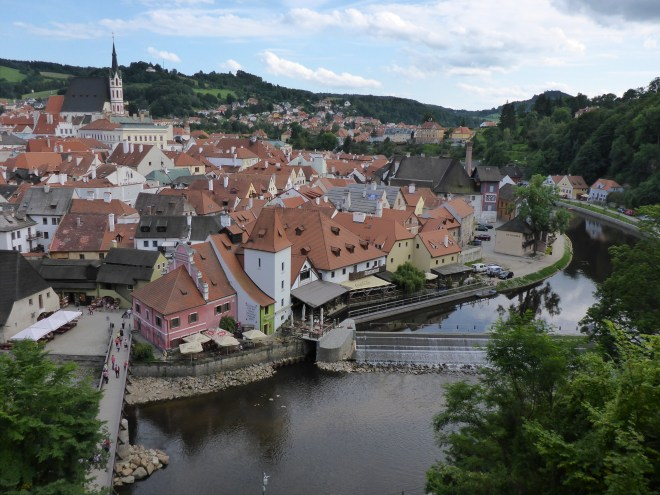 View from the castle bridge.