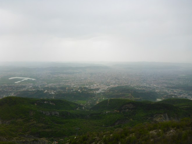 View of Tirana from Mt. Dajti.