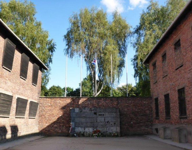 Death Wall in Auschwitz