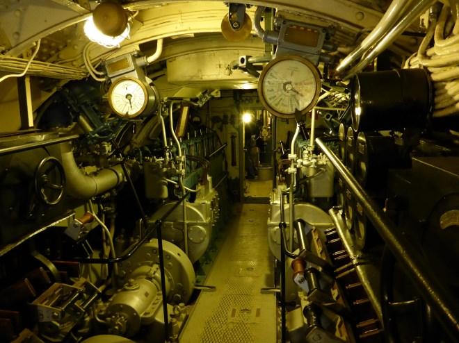 Inside Submarine Vesikko.