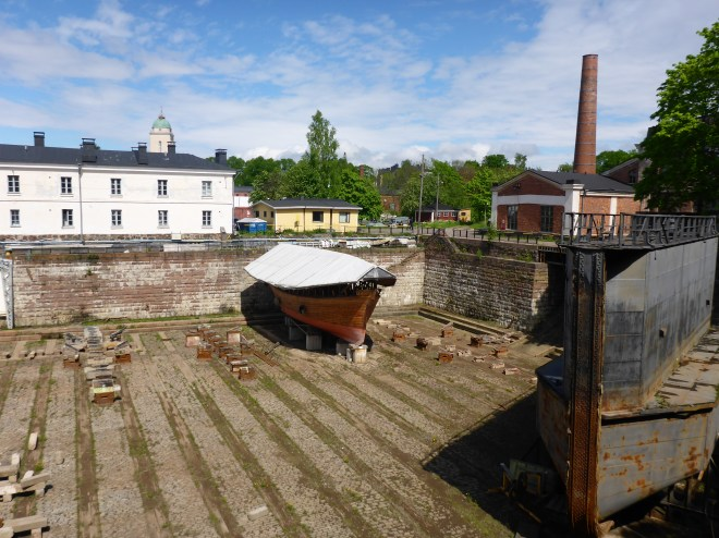 The dry dock at Suomenlinna. The oldest in the world that is still in use.