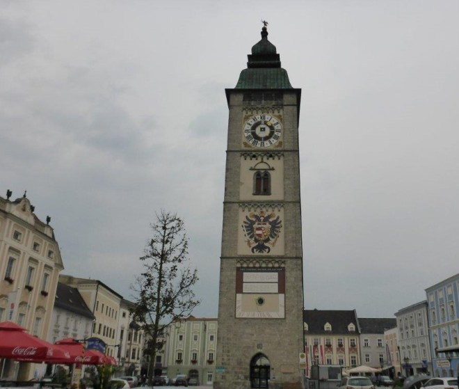 The tower on the main square in Enns, the oldest town in Austria