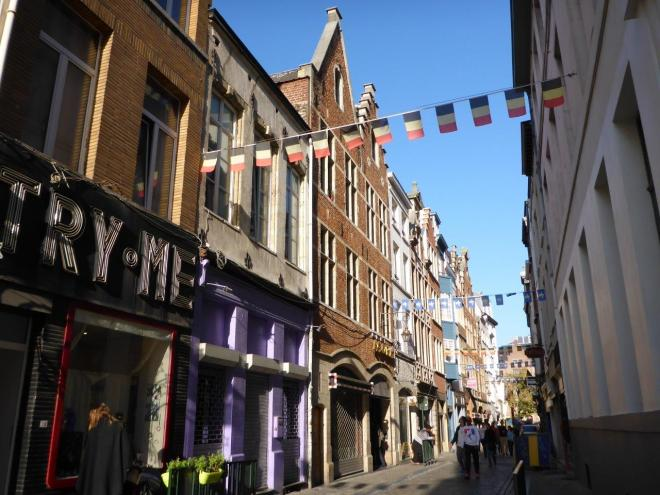 Streets and houses in Brussels, Belgium2