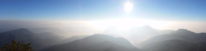 Sunrise seen from the top of Adam's Peak in Sri Lanka 6