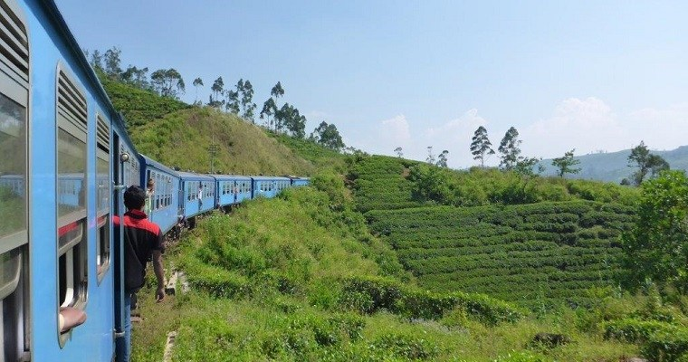 Scenic train ride from Kandy to Hatton