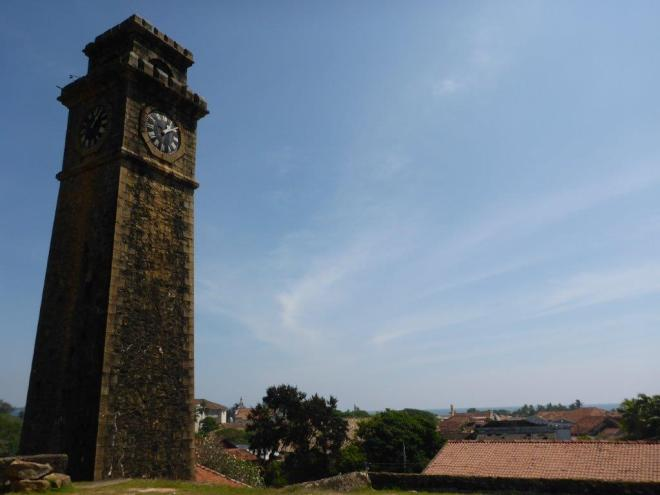The clock tower in Galle Fort.
