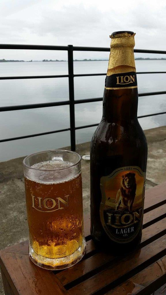 An ice cold Lion beer at the Rest House in Polonnaruwa