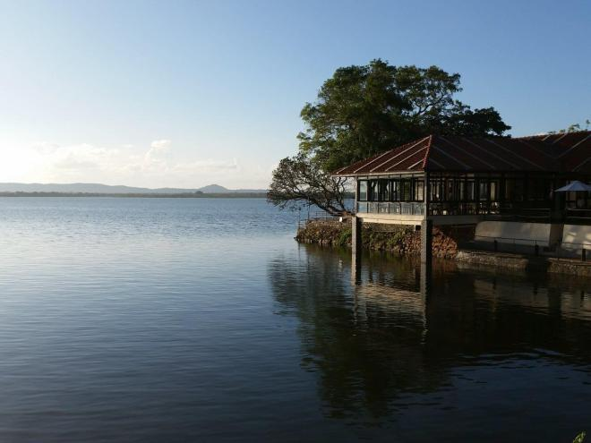 Rest House by lake Parakrama Samudra in Polonnaruwa