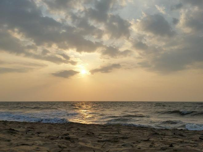 Sunset at the beach in Negombo, Sri Lanka.