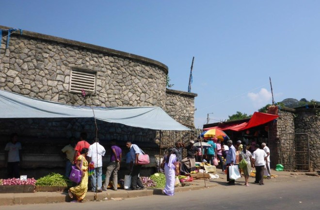 The market in Kandy.