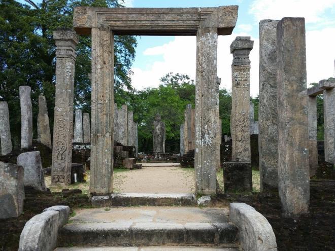 The sacred Quadrangle in Polonnaruwa