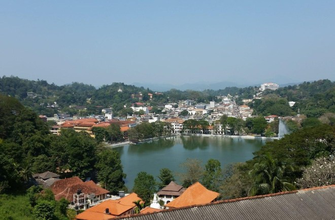 View of Kandy and the lake