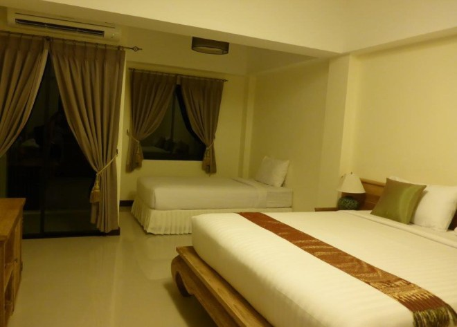 Our room at Chivapuri Residence in Trat