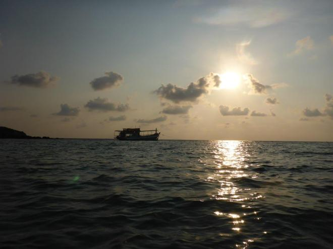 Paddling during sunset at Koh Kood