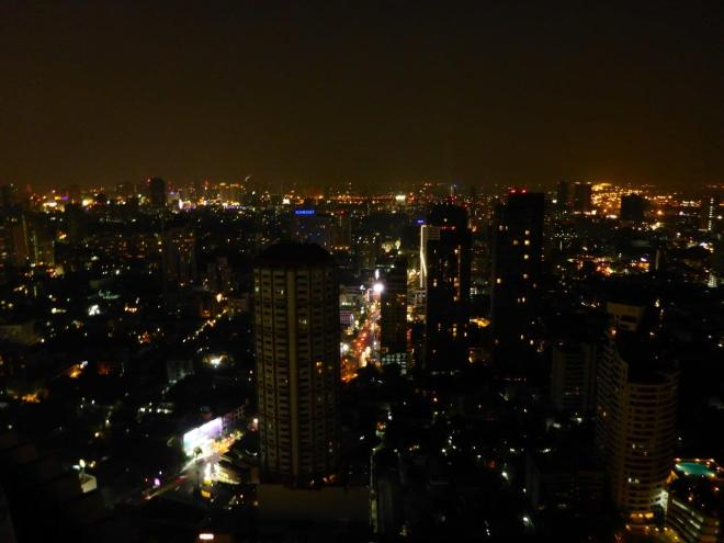 Bangkok by night seen from Octave Rooftop Lounge & Bar at the Bangkok Marriott Sukhumvit