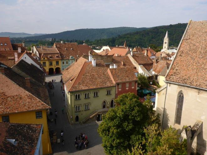 View from the bell tower Sighisoara, Romania