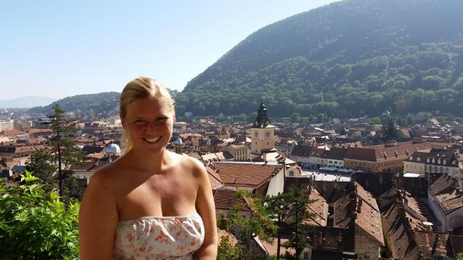 View of Brasov old town seen from the White Tower
