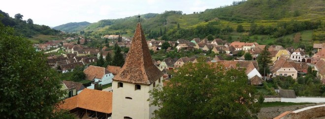 View from Biertan fortified church
