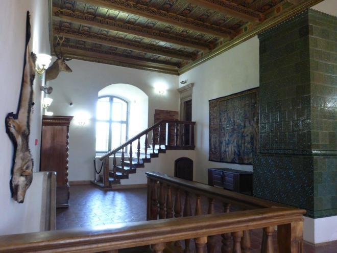 Inside Mir castle in Belarus