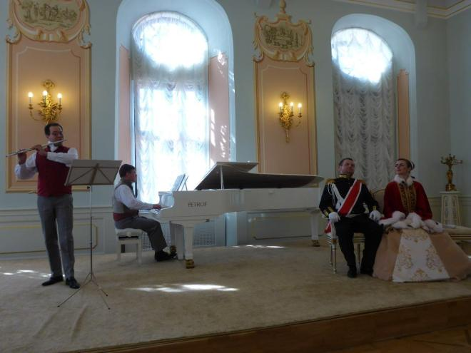 Theatre play in Niasvizh palace in Belarus