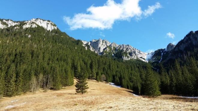 Hiking scenery from Dolina Koscieliska in Tatry National Park 1. Zakopane, Poland