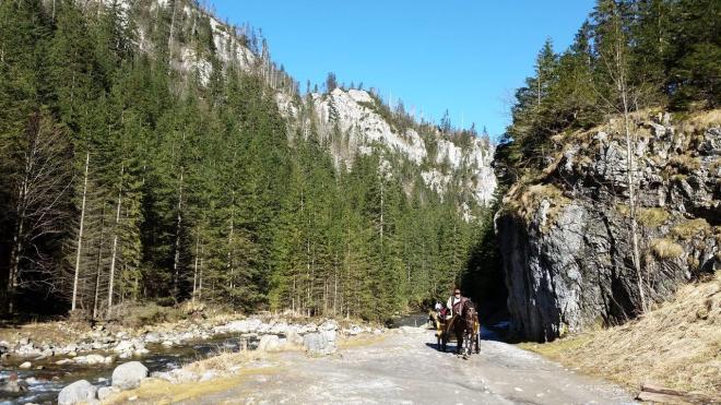 Hiking scenery from Dolina Koscieliska in Tatry National Park. Zakopane, Poland