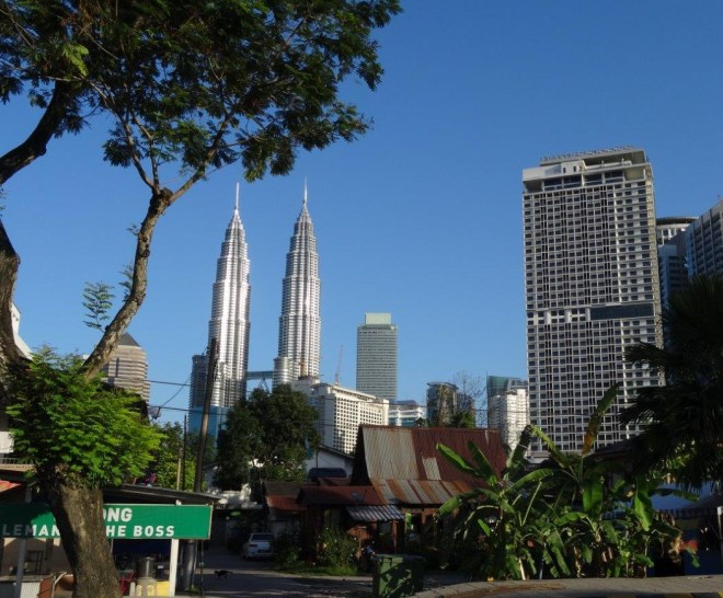 Old vs. modern in KL, Malaysia