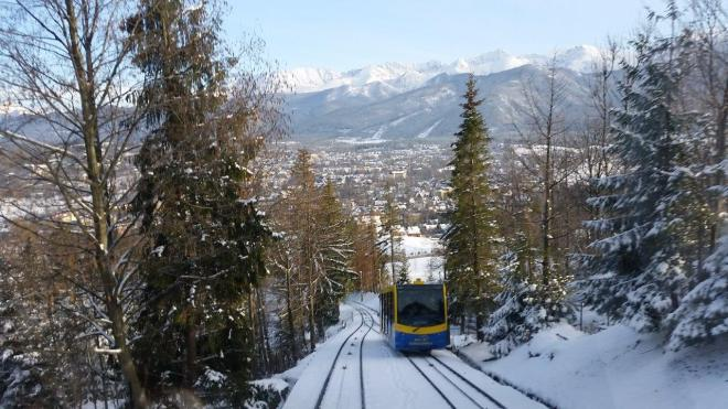 The funicular to Gubalowka. Zakopane, Poland