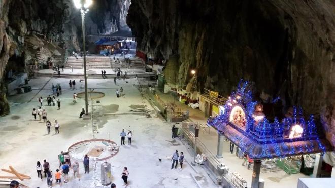 Inside one of the Batu Caves outside Kuala Lumpur, Malaysia
