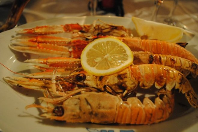 Nice and fresh seafood in Croatia