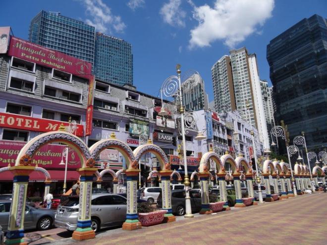 Street in Little India in Kuala Lumpur, Malaysia