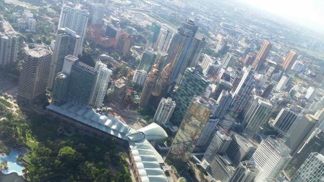 View of Kuala Lumpur seen from Petronas twin Towers. Malaysia