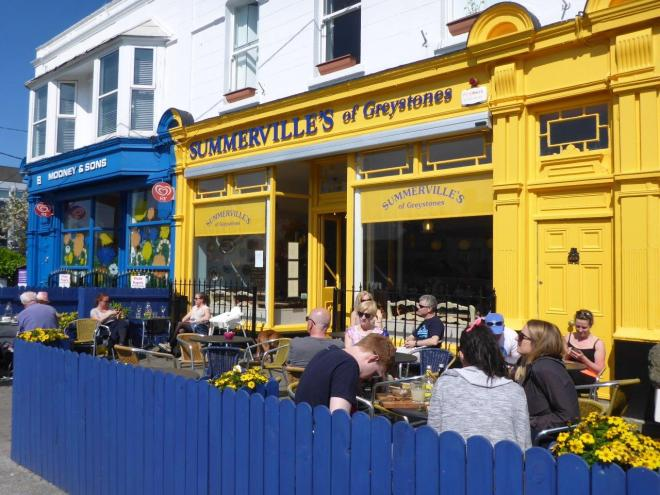 Summerville in Greystone. Perfect for lunch and white wine after the cliff walk between Bray and Greystone outside Dublin, Ireland