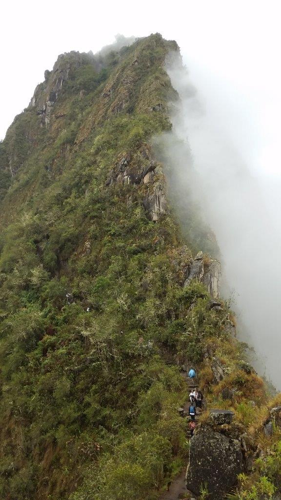 Hiking to the top of Huayna Picchu. Machu Picchu, Peru.