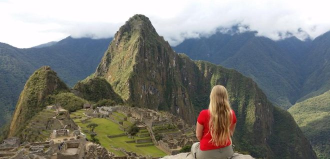 Looking out on Machu Picchu, Peru