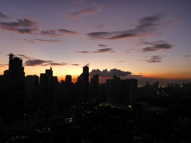 Sunset in Manila, Philippines