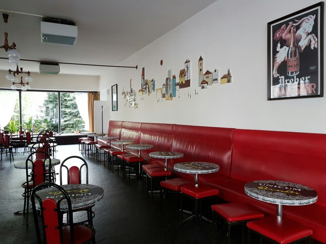 Communist style café Bambi eszpres. Taste Hungary food tour. Budapest, Hungary.