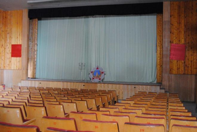 The entertainment room in thge cultural center. Pyramiden. Svalbard. Spitsbergen. Norway
