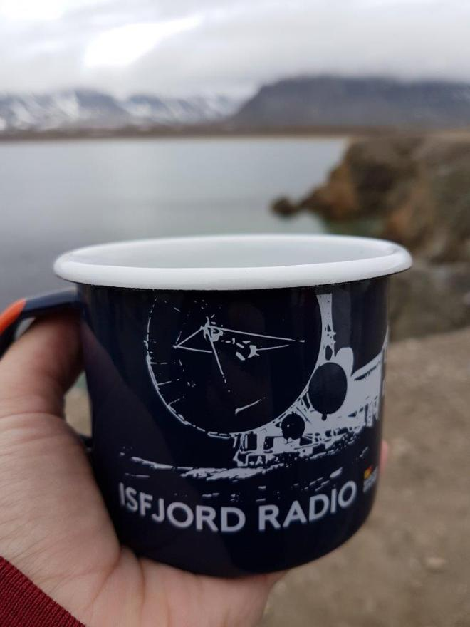 Nice to warm up by hot mulled wine with cava. Isfjord Radio, Svalbard, Norway.