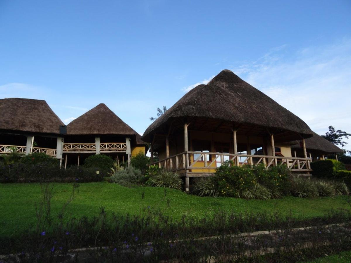 Huts at Crater Safari Lodge by Kibale Forest National Park, Uganda.