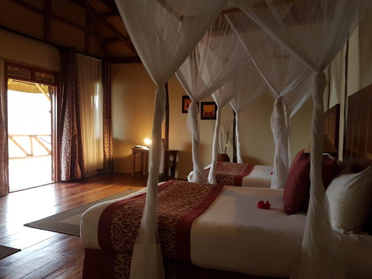 Our nice room at Crater Safari Lodge by Kibale Forest National Park, Uganda.