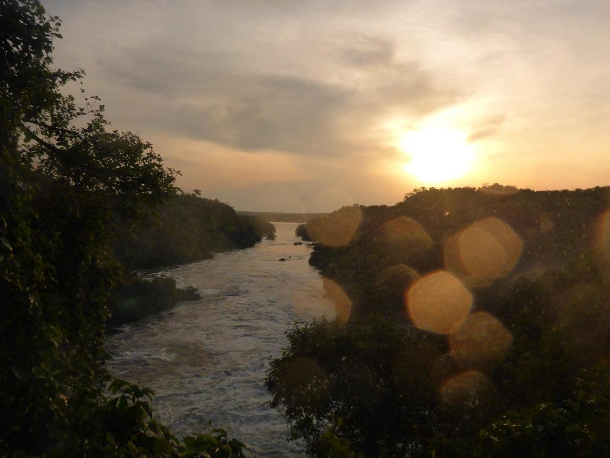 Sunset at Murchison Falls in Uganda Africa