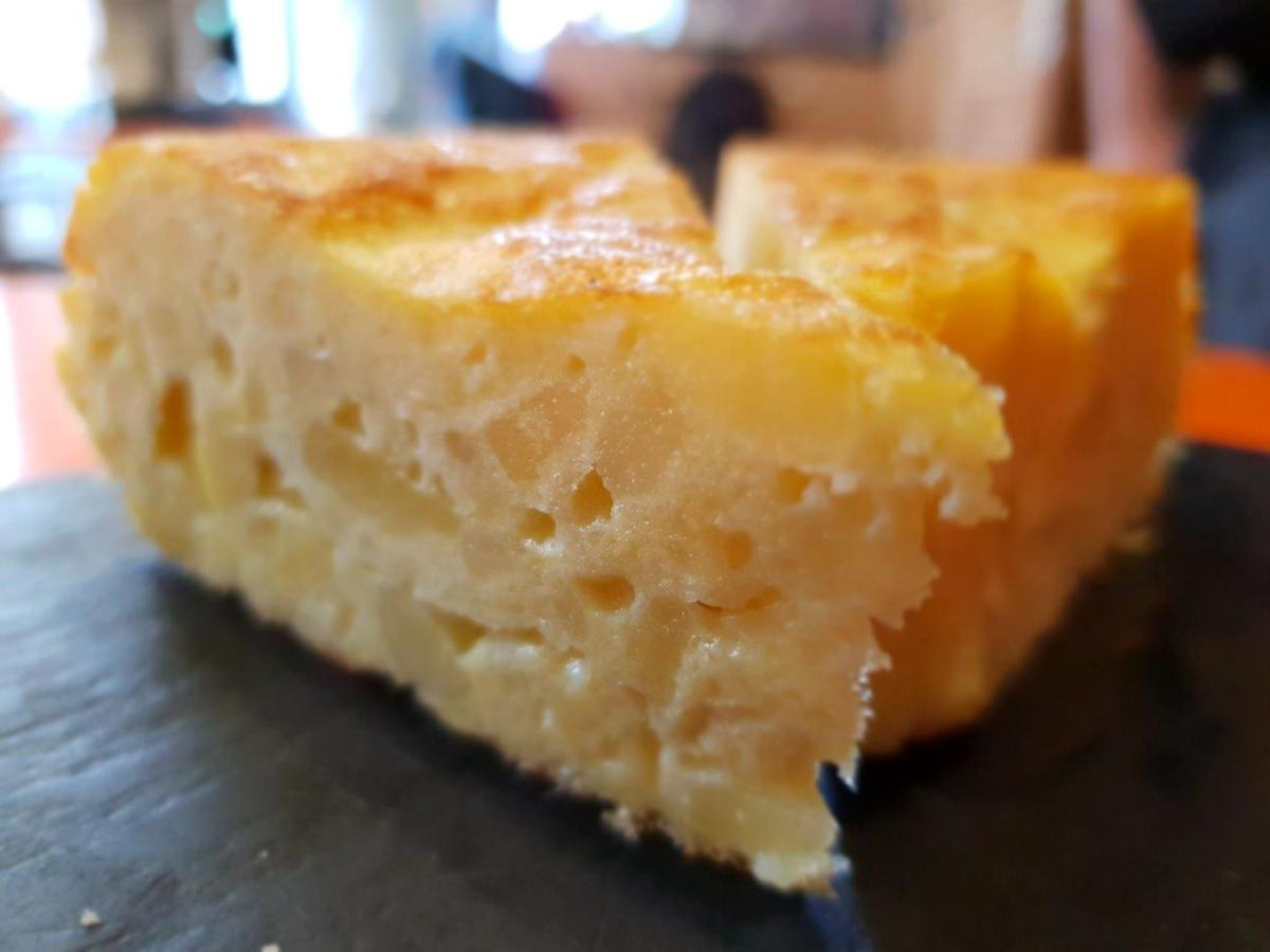 Tortilla (Spanish omelette). Secret Food Tours Madrid, Spain